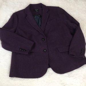 Talbots Woman Deep Purple Wool Blend Blazer 20W 🦆